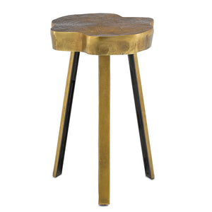 Mambo Brass Accent Table in Antique Brass by Currey and Company 4000-0084