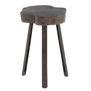 Mambo Graphite Accent Table in Antique Copper by Currey and Company 4000-0085