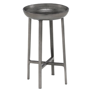 Tomas Small Table in Black Nickel by Currey and Company 4000-0086