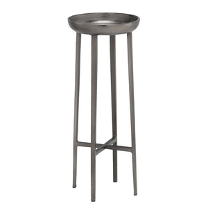 Tomas Large Table in Black Nickel by Currey and Company 4000-0087