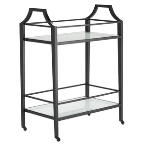 Torrey Black Bar Cart by Currey and Company 4000-0119