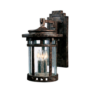 Maxim Lighting 40034CDSE Santa Barbara VX 3-Light Outdoor Wall Lantern in Sienna Finish