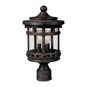 Maxim Lighting 40036CDSE Santa Barbara VX 3-LT Outdoor Pole Lantern in Sienna Finish