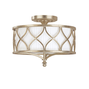 Capital Lighting Fifth Avenue 4003WG-487 3 Light Semi Flush Mount in Winter Gold