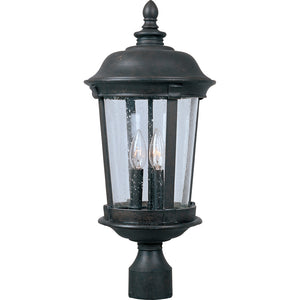 Maxim Lighting 40092CDBZ Dover VX 3-Light Outdoor Pole/Post Lantern in Bronze Finish