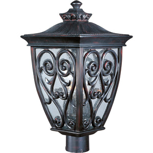 Maxim Lighting 40120CDOB Newbury VX 3-Light Outdoor Pole/Post Lantern in Oriental Bronze Finish
