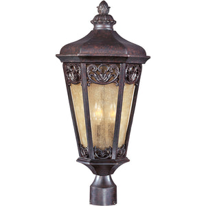Maxim Lighting 40170NSCU Lexington VX 3-Light Outdoor Pole/Post Lantern in Colonial Umber Finish
