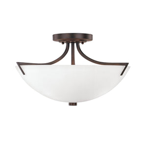 Capital Lighting Stanton 4037BB-SW 3 Light Semi Flush Mount in Burnished Bronze