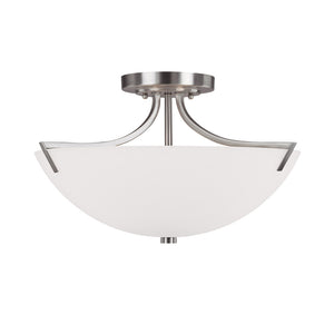 Capital Lighting Stanton 4037BN 3 Light Semi Flush Mount in Brushed Nickel