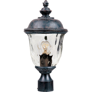 Maxim Lighting 40426WGOB Carriage House VX 1-Light Outdoor Pole/Post Lan in Oriental Bronze Finish