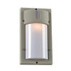 PLC Lighting 4042SL JEDI Collection 1 Light Exterior in Silver Finish