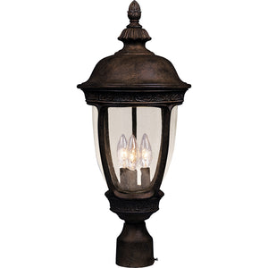 Maxim Lighting 40461CDSE Knob Hill VX 3-Light Outdoor Pole/Post Lantern in Sienna Finish