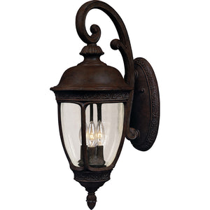 Maxim Lighting 40465CDSE Knob Hill VX 3-Light Outdoor Wall Lantern in Sienna Finish