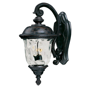 Maxim Lighting 40496WGOB Carriage House VX 2-Light Outdoor Wall Lantern in Oriental Bronze Finish