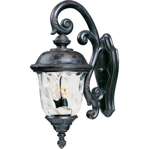 Maxim Lighting 40497WGOB Carriage House VX 3-Light Outdoor Wall Lantern in Oriental Bronze Finish