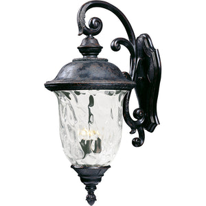 Maxim Lighting 40498WGOB Carriage House VX 3-Light Outdoor Wall Lantern in Oriental Bronze Finish