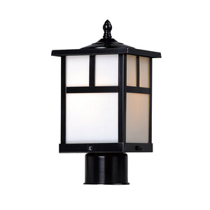 Maxim Lighting 4055WTBK Coldwater 1-Light Outdoor Pole/Post Lantern in Black Finish