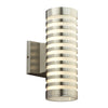 PLC Lighting 4067BA Decker Collection 2 Light Exterior in Bronze Finish