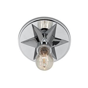 Bethesda 1 Light Flush Mount By Hudson Valley 4080-PC in Polished Chrome Finish