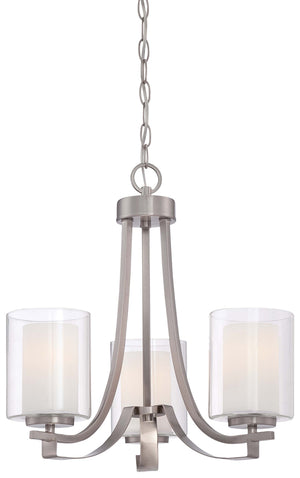 Parsons Studio 3 Light Chandelier In Brushed Nickel Finish by Minka Lavery 4103-84