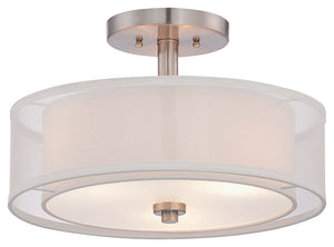 Parsons Studio 3 Light Semi Flush Mount In Brushed Nickel Finish by Minka Lavery 4107-84