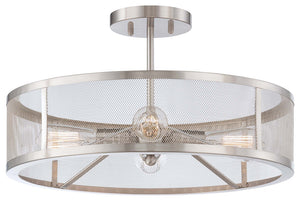 Downtown Edison 4 Light Semi Flush Mount In Brushed Nickel Finish by Minka Lavery 4134-84