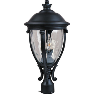 Maxim Lighting 41421WGBK Camden VX 3-Light Outdoor Pole/Post Lantern in Black Finish