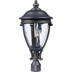 Maxim Lighting 41421WGGO Camden VX 3-Light Outdoor Pole/Post Lantern in Golden Bronze Finish