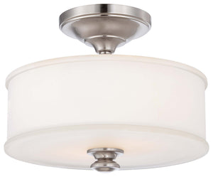 Harbour Point 2 Light Semi Flush Mount In Brushed Nickel Finish by Minka Lavery 4172-84