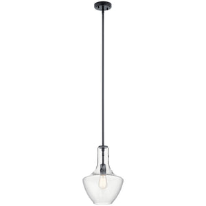Everly 1 Light Pendant in Black Finish by Kichler 42141BK