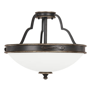 Capital Lighting Wyatt 4253SY 3 Light Semi Flush Mount in Surrey