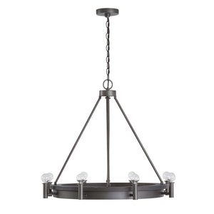 Ashton 8 Light Chandelier in Carbon Grey Finish