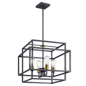 Taubert 4 Light Pendant in Black Finish by Kichler 43984BK