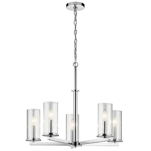 Crosby 5 Light Chandelier in Chrome Finish by Kichler 43999CH
