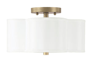 Capital Lighting Quinn 4452BG-557 2 Light Semi Flush Mount in Brushed Gold