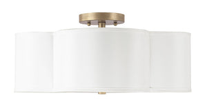 Capital Lighting Quinn 4453BG-561 4 Light Semi Flush Mount in Brushed Gold