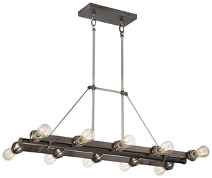 Uptown Edison 10 Light Island Light In Harvard Court Bronze  Finish by Minka Lavery 4457-784