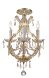 Crystorama 4473-GD-CL-MWP_CEILING Maria Theresa 4 Light Clear Crystal Gold Flush Mount