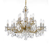 Crystorama 4479-GD-CL-MWP Maria Theresa 12 Light Clear Crystal Chandelier