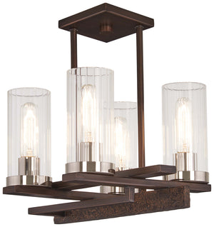 Maddox Roe 4 Light Semi Flush Mount In Iron Ore  Finish by Minka Lavery 4605-101