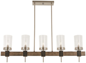 Bridlewood 5 Light Island Light In Stone Grey  Finish by Minka Lavery 4635-106