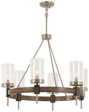 Bridlewood 6 Light Chandelier In Stone Grey  Finish by Minka Lavery 4636-106