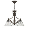 Bolla Chandelier by Hinkley 4653OB-CL Olde Bronze with Clear Seedy glass