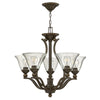 Bolla Chandelier by Hinkley 4655OB-CL Olde Bronze with Clear Seedy glass