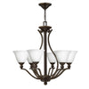 Bolla Chandelier by Hinkley 4656OB-OPAL Olde Bronze with Opal glass