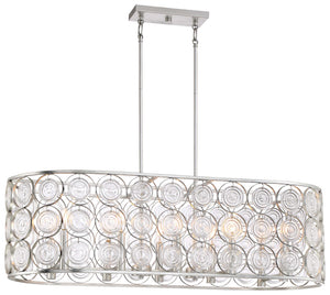Culture Chic 10 Light Island Light In Catalina Silver Finish by Minka Lavery 4669-598
