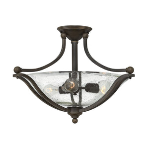 Bolla Foyer Ceiling by Hinkley 4669OB-CL Olde Bronze with Clear Seedy glass