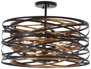 Vortic Flow 5 Light Semi Flush Mount In Dark Bronze  Finish by Minka Lavery 4671-111