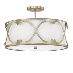 Capital Lighting Alexander 4743WG-610 3 Light Semi Flush Mount in Winter Gold