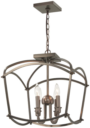 Jupiter'S Canopy 4 Light Semi Flush Mount In Polished Nickel Finish by Minka Lavery 4773-281